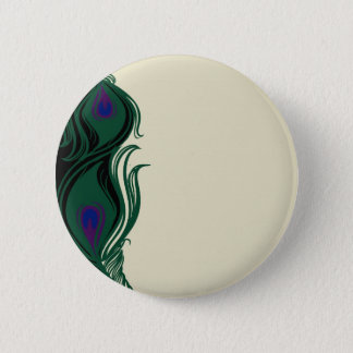 Peacock Feathers Border Button