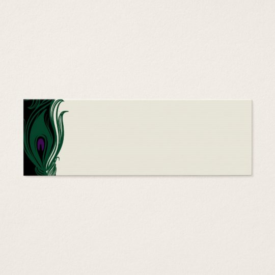 Peacock Feathers Border Mini Business Card