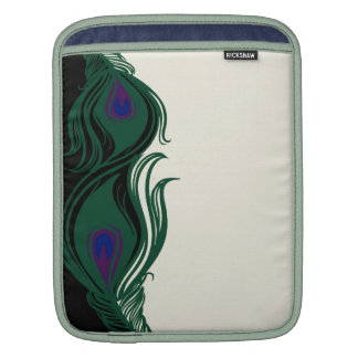 Peacock Feathers Border Sleeve For iPads