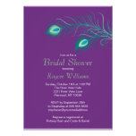 Peacock Feathers Bridal Shower Invitation