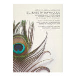Peacock Feathers Bridal Shower Invitations Cards