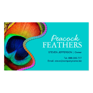 Peacock Feathers Business Cards