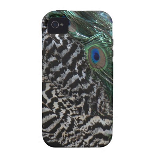 Peacock Feathers iPhone 4/4S Cases