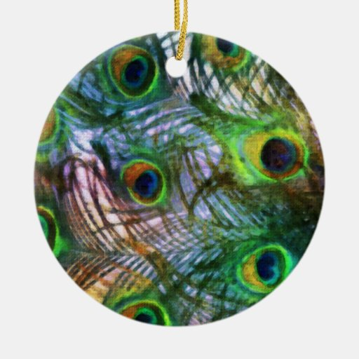 Peacock Feathers Christmas Ornament Set 1116