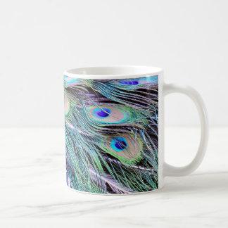 Peacock Feathers Classic White Coffee Mug