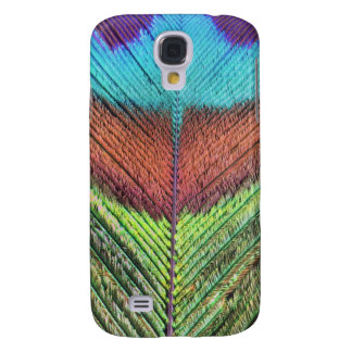 Peacock feather's close up galaxy s4 cases