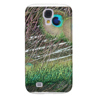 Peacock feathers close up peafowl design galaxy s4 cover