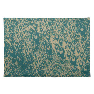 Peacock Feathers Cloth Placemat