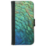 Peacock Feathers Colorful Abstract Design iPhone 6 Wallet Case