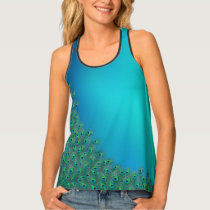 Peacock feathers colorful Tank Top