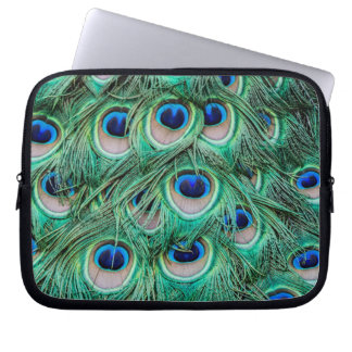 Peacock Feathers Computer Sleeve
