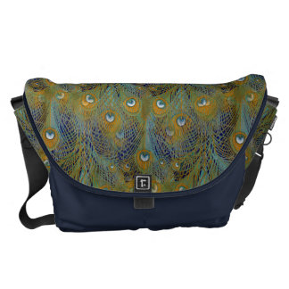 Peacock Feathers Coordinates Courier Bag