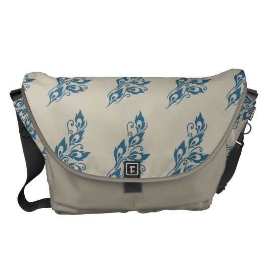 Peacock Feathers Courier Bag