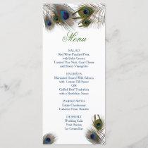 Peacock Feathers, Custom Wedding Menu