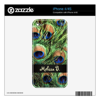 Peacock Feathers Decals For The iPhone 4