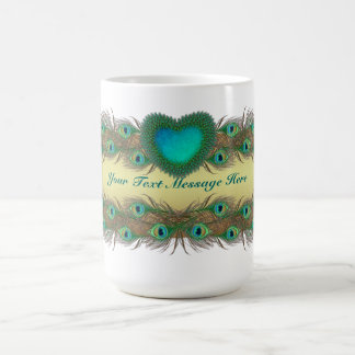 Peacock feathers decorative mugs for all