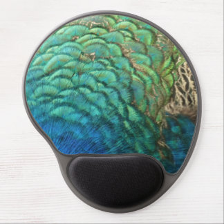 Peacock Feathers Design Gel Mouse Pad