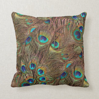 Peacock Feathers Design PIllow