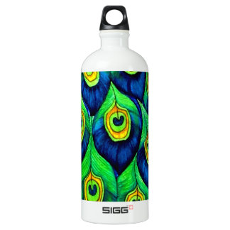 Peacock Feathers Design Water Bottle