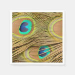 Peacock Feathers Disposable Napkin