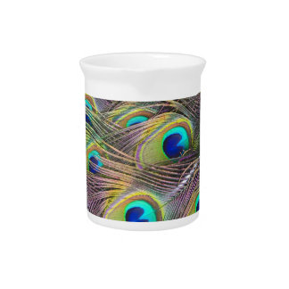 Peacock Feathers Drink Pitcher