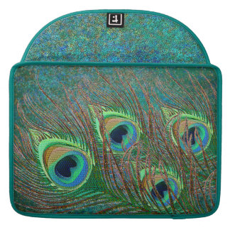 Peacock feathers elegant ornate MacBook Sleeves