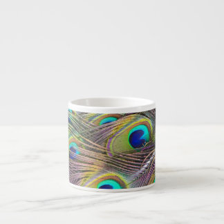 Peacock Feathers Espresso Cup