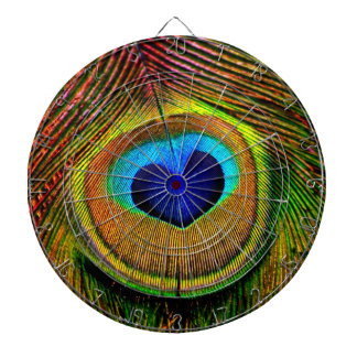 Peacock Feathers Eye of Love Dartboard With Darts