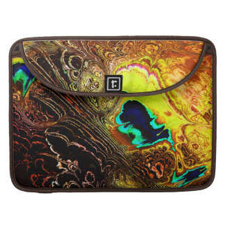 Peacock Feathers Fractal 1 Mac Book Sleeve
