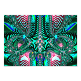 Peacock Feathers Fractal Card