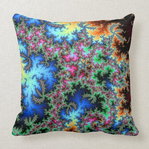 Throw Pillows With Feather Design : Peacock Feathers - Fractal Design Throw Pillow Zazzle