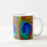 Peacock Feathers Glass Art 1 Mug