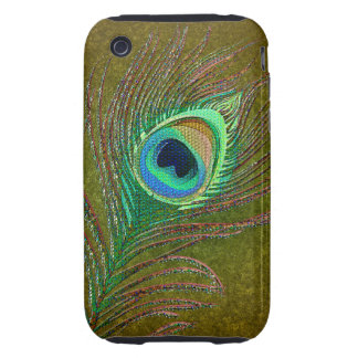 Peacock feathers green iPhone3 phones iPhone 3 Tough Cover