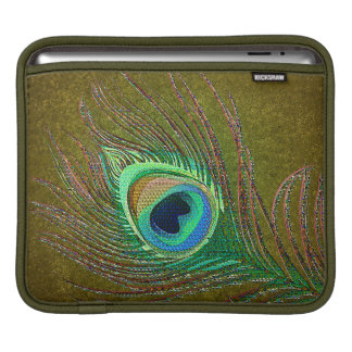 Peacock  feathers grungy  green sleeves