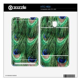 Peacock Feathers HTC HD2 Skin