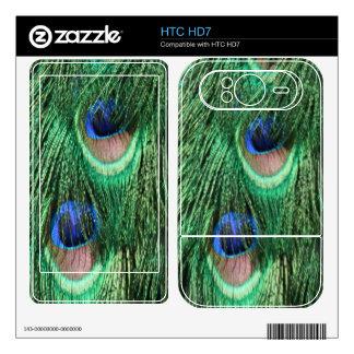 Peacock Feathers HTC HD7 Skin