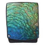 Peacock Feathers I Colorful Abstract Nature Design Backpack