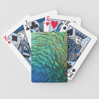 Peacock Feathers I Colorful Abstract Nature Design Bicycle Playing Cards