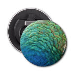 Peacock Feathers I Colorful Abstract Nature Design Bottle Opener