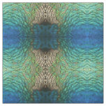 Peacock Feathers I Colorful Abstract Nature Design Fabric