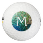 Peacock Feathers I Colorful Abstract Nature Design Golf Balls