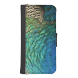 Peacock Feathers I Colorful Abstract Nature Design iPhone SE/5/5s Wallet
