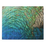 Peacock Feathers I Colorful Abstract Nature Design Jigsaw Puzzle