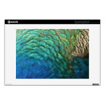 Peacock Feathers I Colorful Abstract Nature Design Laptop Skin