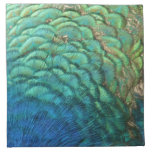 Peacock Feathers I Colorful Abstract Nature Design Napkin