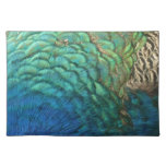Peacock Feathers I Colorful Abstract Nature Design Placemat