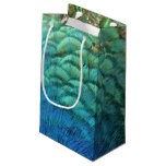 Peacock Feathers I Colorful Abstract Nature Design Small Gift Bag