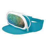 Peacock Feathers I Colorful Abstract Nature Design Visor