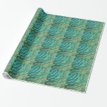 Peacock Feathers I Colorful Abstract Nature Design Wrapping Paper