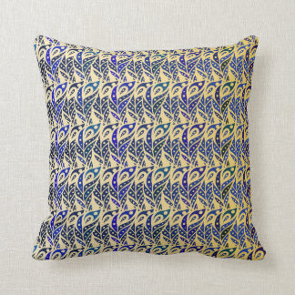 Peacock Feathers I Throw Pillow